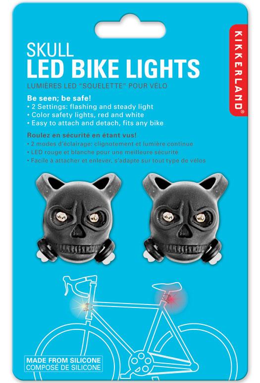 Skull LED Bike Lights Set of 2