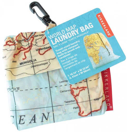 Maps Travel Laundry Bag