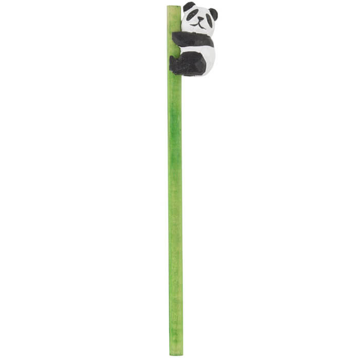 Panda Carved Wood Pencil