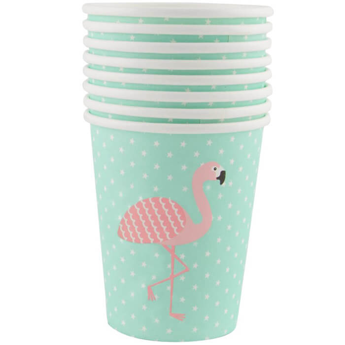 Flamingo Pappbecher