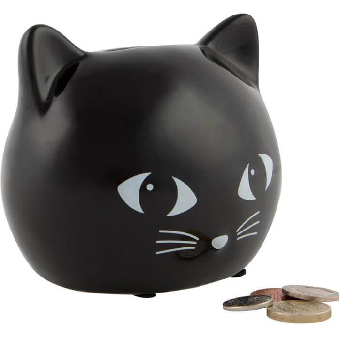 Spardose Schwarze Katze