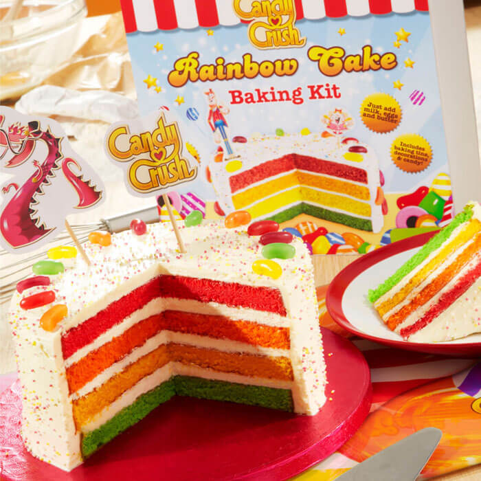 Candy Crush Regenbogen-Kuchenmischung