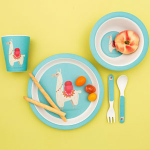 Dolly Llama Bamboo Tableware