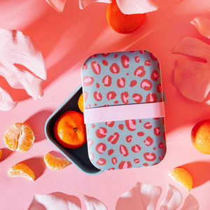 Leopard Love Bamboo Lunch Box