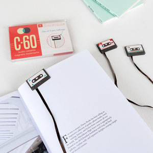 Cassette Tape Bookmark Set