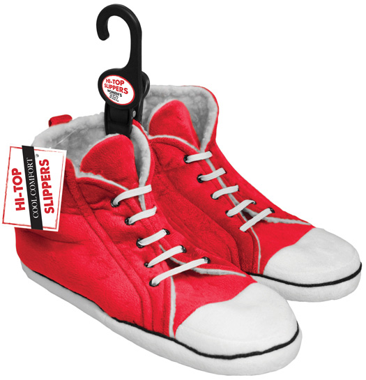 Womens High Top Trainer Slippers