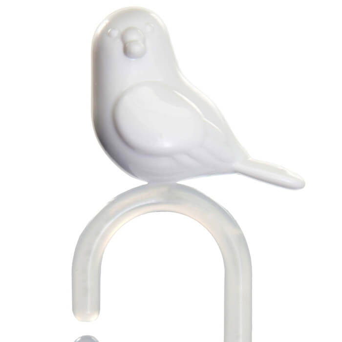 Perched Shower Curtain Hooks
