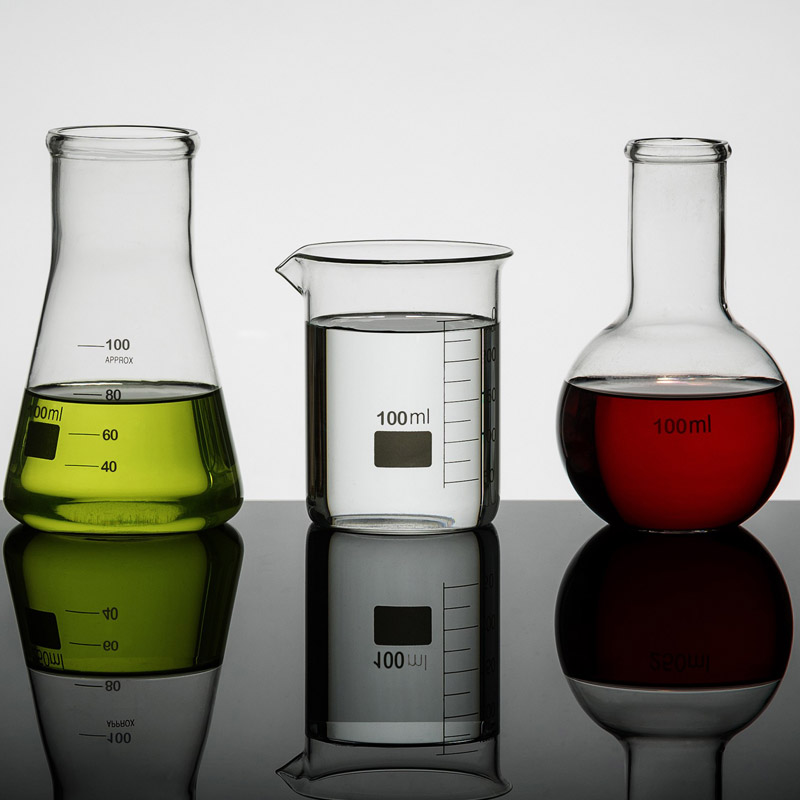 Set Of 3 Science Flasks 100ml