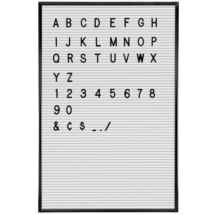 Letter Board Deluxe White