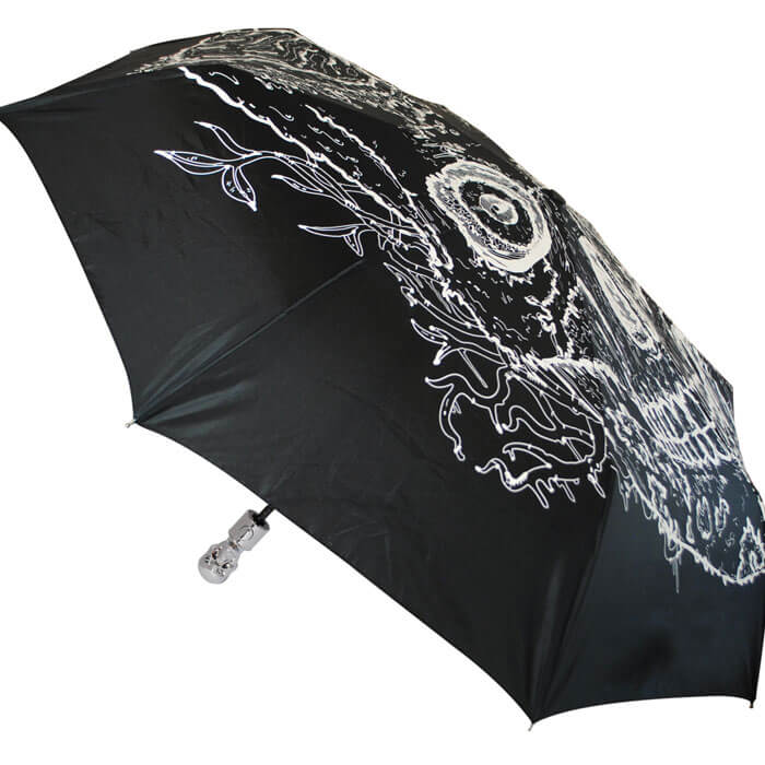 Skull Umbrella Glow In The Dark