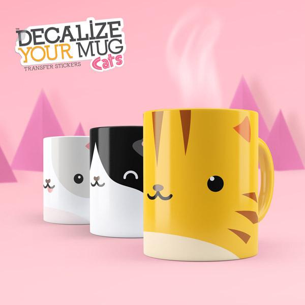 Katzensticker- Set für Tassen