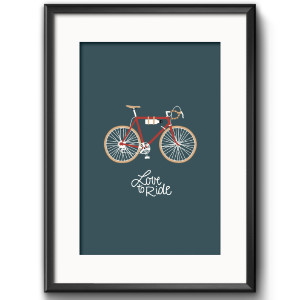 Art Print Love to Ride