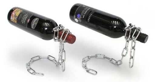 Chain Wine Bottle Holder floating wine illusion