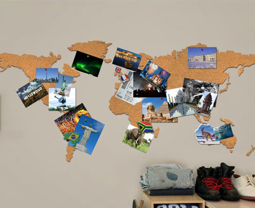 Cork board world travel map gadgets and gift ideas cork board world travel map gumiabroncs Gallery