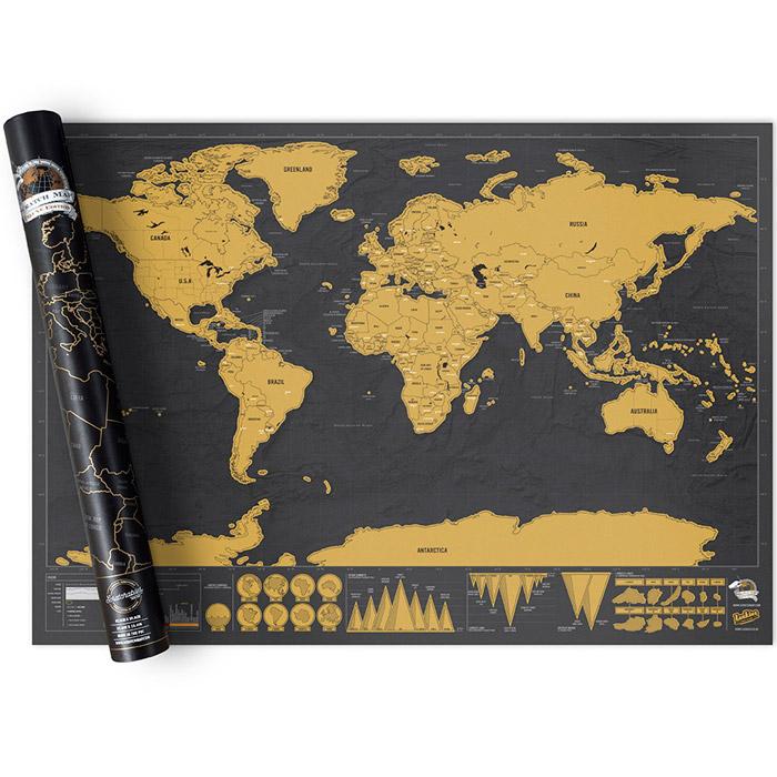 Weltkarte zum Rubbeln Deluxe