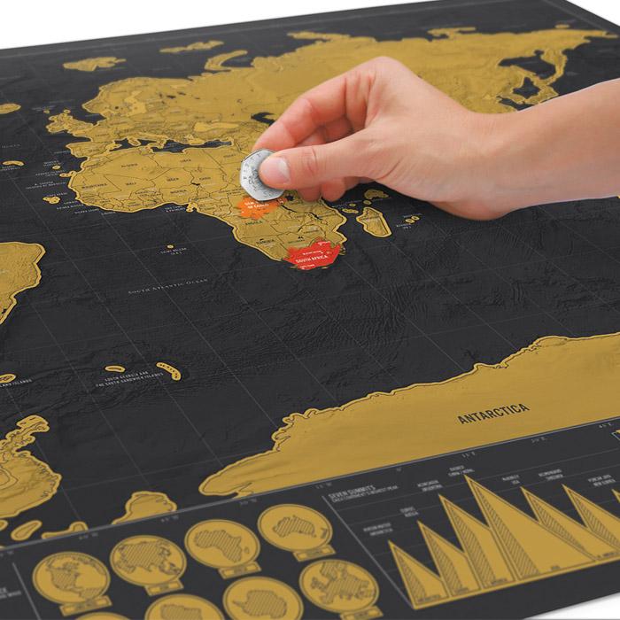 Weltkarte zum Rubbeln Deluxe - Gadgets und Geschenke