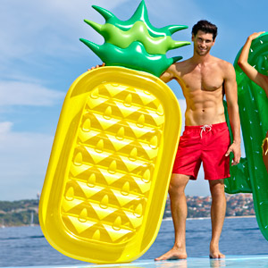 Luxe Lie-On Float Inflatable Pineapple