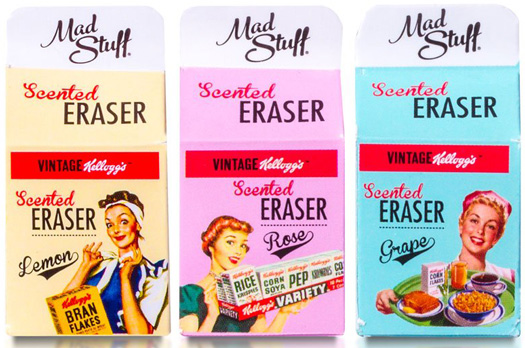 Kellogg's Vintage Milk Carton Scented Eraser Set