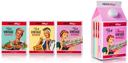 Kellogg's Vintage Notizblock Set