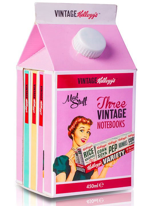 Kellogg's Vintage Milk Carton Notebooks Set
