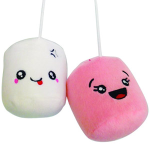 Decorazione Auto Mini Peluche Marshmallow