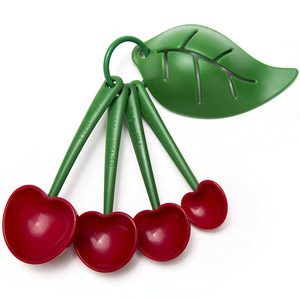 Mon Cherry Measuring Spoons and Egg Separator