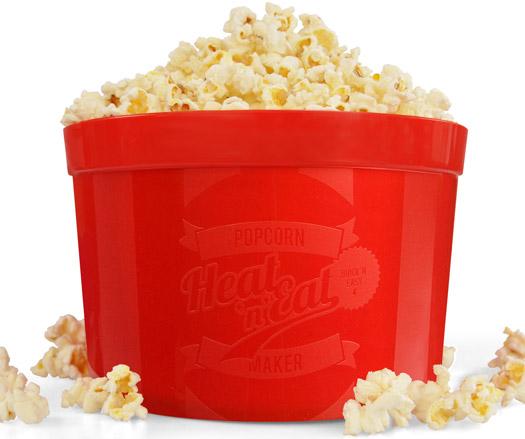 Heat n' Eat Microwave Popcorn Maker