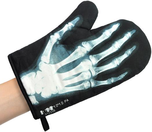Ofenhandschuh Röntgenbild