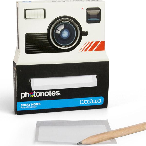 Photonotes - Camera shaped sticky notes
