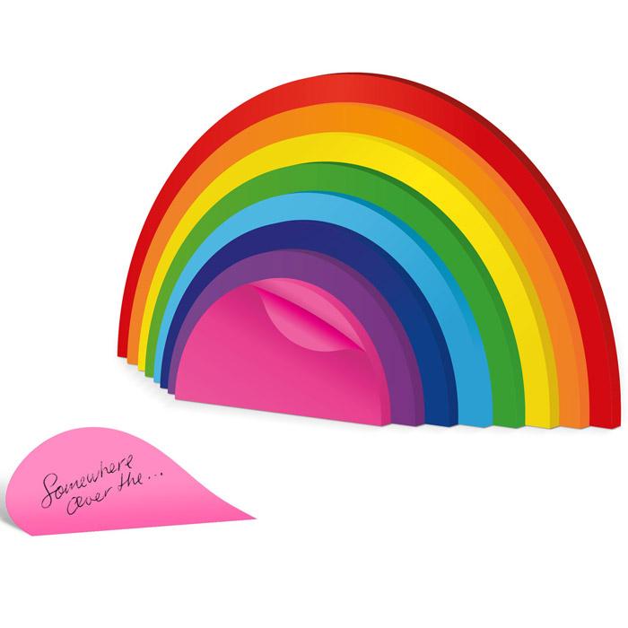 Regenbogen Notizzettel