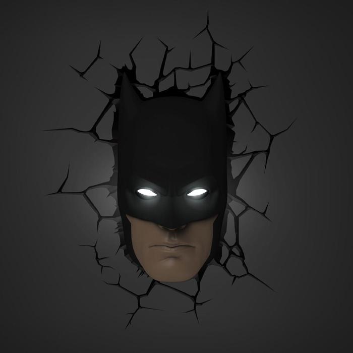 3D Batman Mask Light