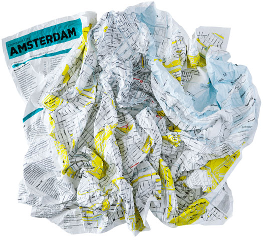 Crumpled City Maps Amsterdam