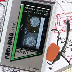 Retro Notepad Walkman