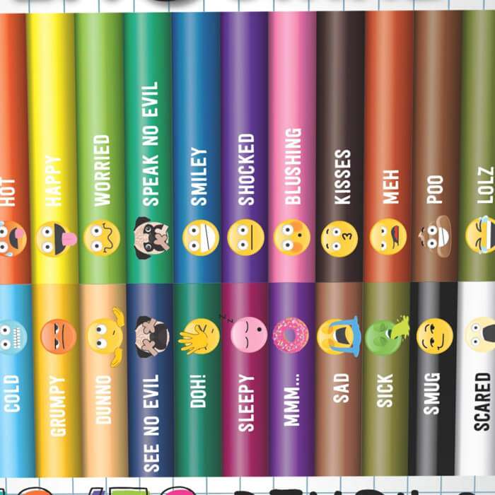 Get Emojinal 50/50 Pencils
