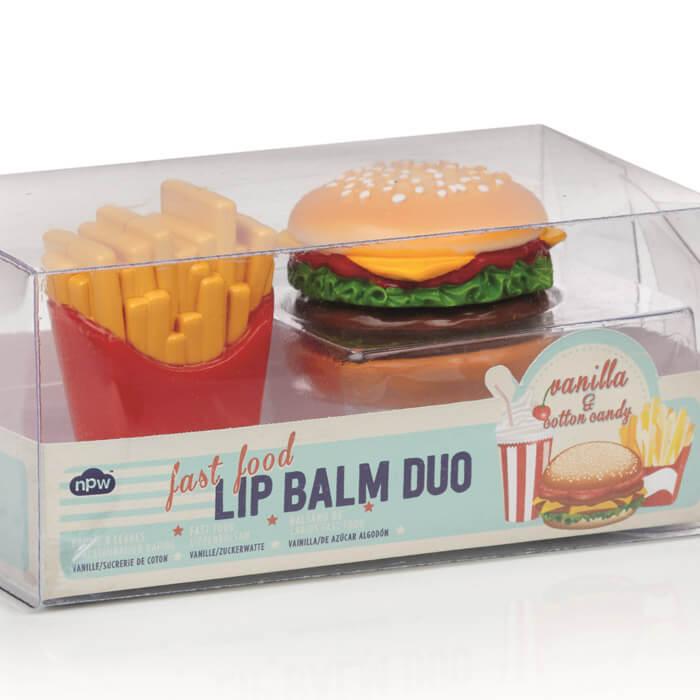 Burger & Fries Lip Balm Duo