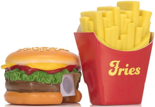 Anspitzer und Radiergummi Set Fast Food
