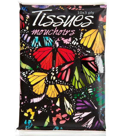 Printed Pocket Tissues Butterfly