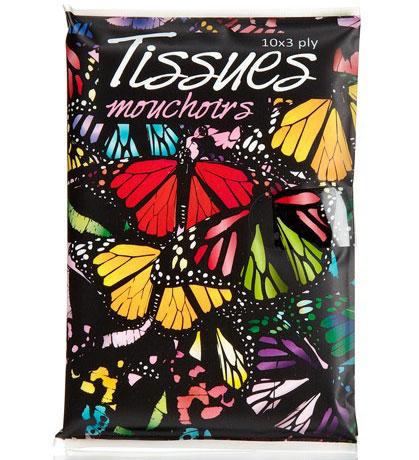 Taschentücher Schmetterlings Motiv