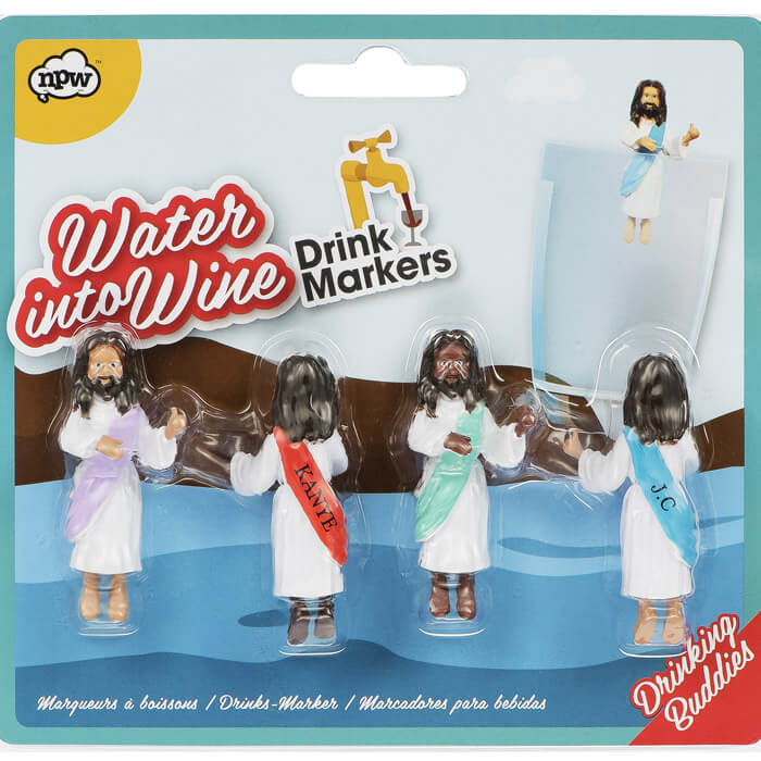 Water into Wine Jesus Cocktail Drink Markers