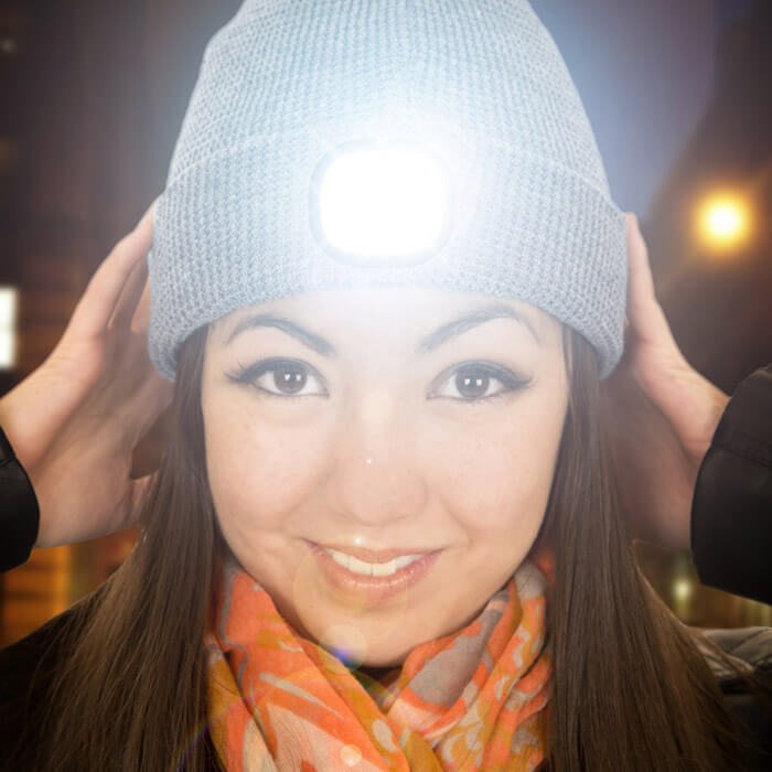 Beamie LED Beanie Hat Grey
