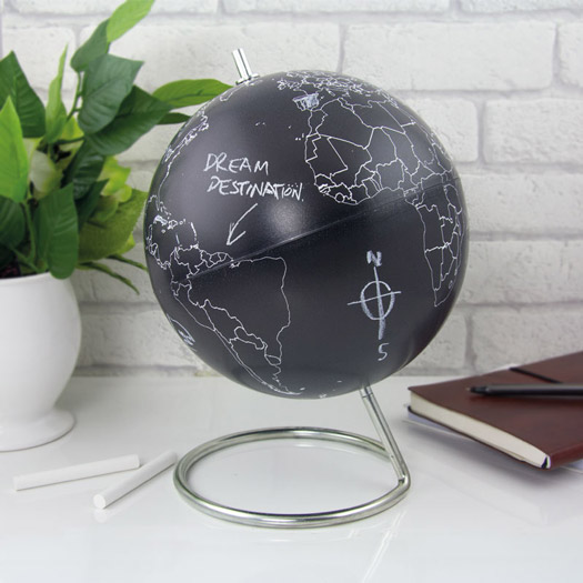 Wandtafel Globus