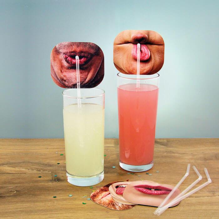 Gesichter-Trinkhalme