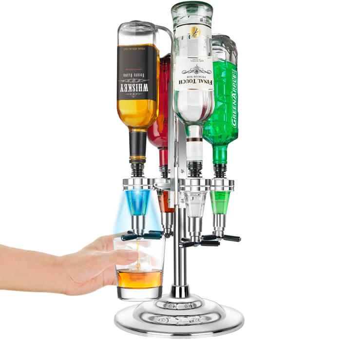 4 Bottle LED Liquor Dispenser