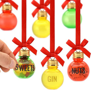 Eat, Drink & Be Merry Christmas Baubles