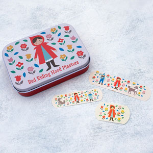Red Riding Hood Plasters In A Tin