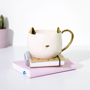 Pinky Up Cat Mug