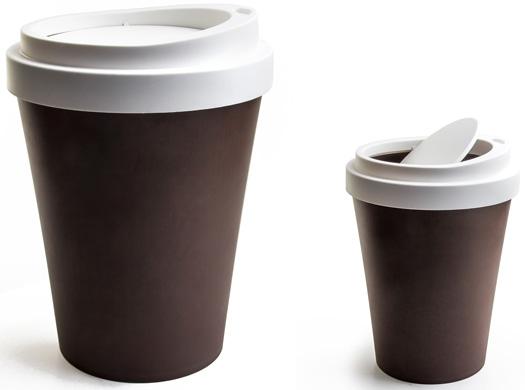 Mülleimer Kaffeebecher