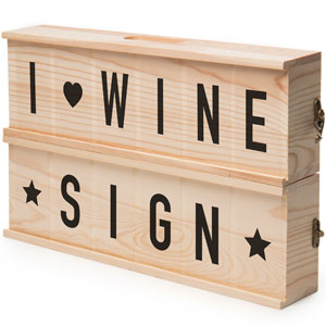 Wine Sign Box