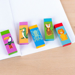 Colourful Creatures Erasers