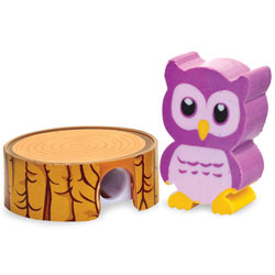Owl Eraser Pencil Sharpener